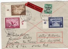 Eilboten Brief Deutsches Reich Mit Marken Aus Dem Kameradschaftsblock - Sin Clasificación