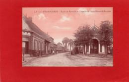 59----STEENVOORDE--route De Ryweldt Et Chapelle De Notre-Dames-de-Lourdes---rare En Couleur Saumon---voir 2 Scans - Steenvoorde