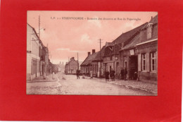59----STEENVOORDE--Bureaux Des Douanes Et Rue De Poperinghe---rare En Couleur Saumon---voir 2 Scans - Steenvoorde