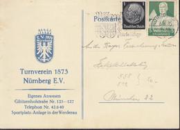 DR 558, 512 MiF Auf Postkartedes Turnvereins Nürnberg 1873 E.V., Mit Stempel: Nürnberg 6.6.1935 - Briefe U. Dokumente