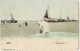 Heyst Marée Basse Circulée En 1903 Nels Couleur - Heist
