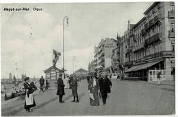 Heyst-sur-Mer Digue Circulée En 1910 - Heist
