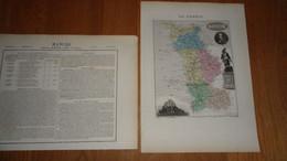 MANCHE Département France Carte Géographique Issue De L'Atlas Migeon 1882 Descriptif Géographie Cartographie - Cartes Géographiques
