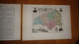 SEINE INFERIEURE Département France Carte Géographique Issue De L'Atlas Migeon 1882 Descriptif Géographie Cartographie - Cartes Géographiques