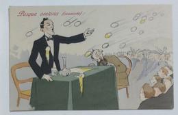 29693 Cartolina Illustrata Umoristica - Pasqua Oratoria (Ovazione) - Cartoline Umoristiche