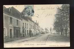 86  CPA  DANGE - ROUTE NATIONALE - ANIMATION - JOLIE CARTE TIMBREE 1904 - Dange Saint Romain