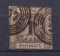 """Baden - 1851 - Michel Nr. 1 N5 """"157"""" Wertheim - Gestempelt - 320 Euro - Baden"""