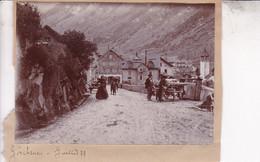 GOSCHENEN SUISSE Juillet 1899 Ambiance De Rue Photo Amateur Format Environ 6,5 Cm X 10 Cm - Plaatsen