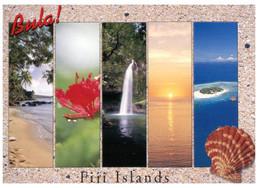(XX 16) Fiji Postcard (with 5 Views & Seashell) - Fidschi