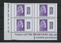 FRANCE COIN DATE YT 5258  Daté 29.01.2019  TD 205 N° 8 413 486 Monde Violet 4 Timbres Neufs Gommés - 2010-....