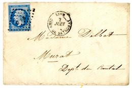 INDICE 24 COTE 1200 EUROS MILITAIRE RHONE LAC 1862 LONG TEXTE 1862 N°14 CdS Camp De Sathonay T15 LYON CAMP DE SATHONAY R - 1849-1876: Classic Period