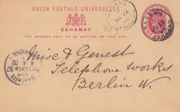 Bahamas: 1902 Post Card To Berlin - Telephone Works - Bahama's (1973-...)