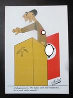 Anti-NS Postkarte Niederlande 1945 Von Smits - Goebbels - Oorlog 1939-45
