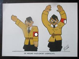 Anti-NS Postkarte Niederlande 1945 Von Smits - Hitler - Oorlog 1939-45
