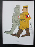 Anti-NS Postkarte Niederlande 1945 Von Smits - Oorlog 1939-45