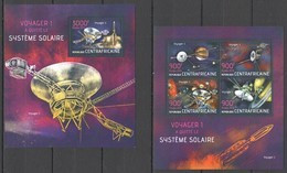 CA711 2013 CENTRAL AFRICA CENTRAFRICAINE SPACE VOYAGER 1 EXIT THE SOLAR SYSTEM KB+BL MNH - Sonstige
