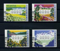 SCHWEIZ ATM 1996 Nr 7-10 Gestempelt (111373) - Automatenzegels