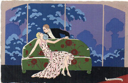 MESCHINI - VArt Déco - Couple - Ars Nova (Dipinta à Mano)   (7753 ASO) - Other Illustrators