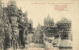 HAUTERIVES  (Drome) Palais Idéal Vue De La Terrasse Coté Sud + Poème De L'auteur Du Palais RV - Hauterives