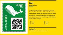 Crypto Stamp 3.0 Wal Virtuelle Farbe Grün ** Postfrisch Code: 4UffrS - 2011-2020 Unused Stamps