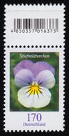 3473 Stiefmütterchen 170 Cent, Mit Codierfeld ** - Rolstempels