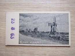 1960's Sweden Travel Weight Control Record Ticket( Same Like Old Train Tickets),windmill At Oland - Otros