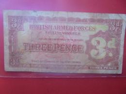 Grande-Bretagne (Militaire) 3 Pence Beaucoup Circuler (B.24) - British Armed Forces & Special Vouchers