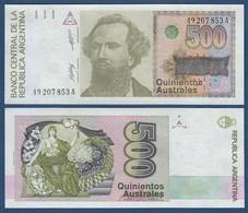 ♛ ARGENTINA - 500 Australes Nd.(1988-1990) {sign. E.Salama J.L.Machinea} UNC P.328 A - Argentina