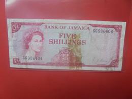 JAMAIQUE 5 SHILLINGS Beaucoup Circuler (B.24) - Jamaica
