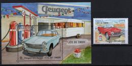 France  2020. Automobile Peugeot 204 Cabriolet, 404 Berline. Cars. Transport.  MNH** - Nuevos