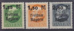 Bayern MiNr. 174-176A ** - Bavaria