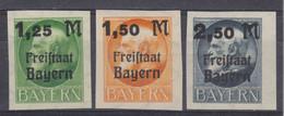 Bayern MiNr. 174-176B ** - Bavaria