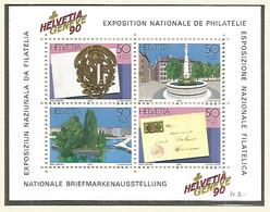 Switzerland 1990 Year , Mint Block MNH(**) - Bloques & Hojas