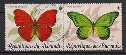 Burundi - 1984 - N° Yv. 890 à 891 - Papillons / Butterflies - Oblitéré / Used - Schmetterlinge