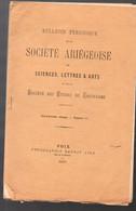 (09 Ariège)  Bulletin SOCIETE ARIEGEOISE 18e Vol N°11, 1937 : 4 Articles Voir Le Sommaire (M2618) - Midi-Pyrénées