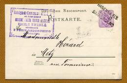 """PETIT-REDERCHING  (57) : """" FABRIQUE DE COURONNES - Emile EVERLE """"  (1888) - Sonstige Gemeinden"""