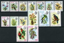 Fiji 1975-77 Birds & Flowers - 3rd Wmk. - Set MNH (SG 505-520) - Fiji (1970-...)