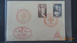 Lettre De 1950 Avec Cachet Exposition De La Croix Rouge - Croix Rouge