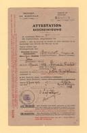 Attestation Se Rendre En Zone Interdite - Morbihan - Gourin - 1943 - Guerra Del 1939-45