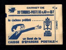 France Carnet 1536B C2 Marianne De Cheffer Conf 6 Daté - Usados Corriente