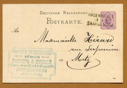 """PETIT-REDERCHING  (57) : """" FABRIQUE DE COURONNES - Emile EVERLE """"  (1887) - Sonstige Gemeinden"""