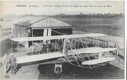 L'Aéroplane Wright Devant Son Hangar Au Camp D'Auvour, Près Du Mans - ELD - Cliché Branger - ....-1914: Precursors