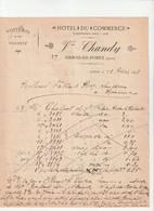 42-Vve Chandy...Hôtel Du Commerce...Usson-en-Forez...(Loire)..1892 - Sports & Tourism