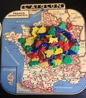 Géographie Rare L ' Aiglon Création Mob France Départements Puzzle Plastique Bien Complet Très Bon état Circa 1950 - Puzzles