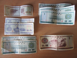 Chine / China - 9 Billets 0,10, 0,50, 1 Et 5 Yuan 1979 - Chine