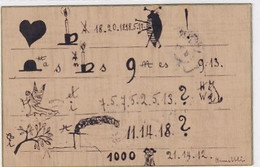 Entschlüsselungs-Karte - Siehe Auch Text (in Deutsch) - 1914   (A-327-210315) - Sonstige