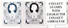PIA  -  GIBILTERRA  - 1981  :  Serie Corrente Da Carnet - Regina Elisabetta II -   (Yv 433-34) - Gibraltar