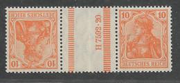 Deutsches Reich,  Postfrischer Zusammendruck-Streifen  Der Germania-Ausgabe Von 1921 - Se-Tenant