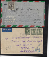 AUSTRALIA 2 AIR MAIL COVERS TO GREECE, 1951 AND 1959, INCLUDING LETTERS - Covers & Documents