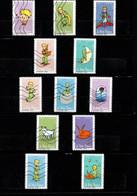 12 Timbres  Adhésifs (lettre Vert  ..)   Oblitérés(2021) (  75 Ans  Du Petit  Prince   ) - KlebeBriefmarken